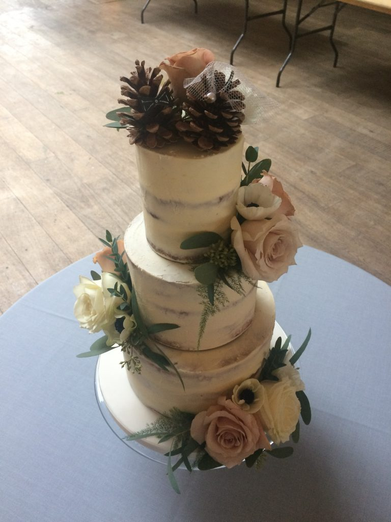 Semi Naked, Fresh Flowers, Pine Cone toppers