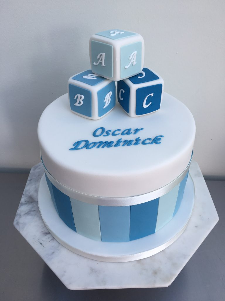 ABC Blocks Celebration Cake