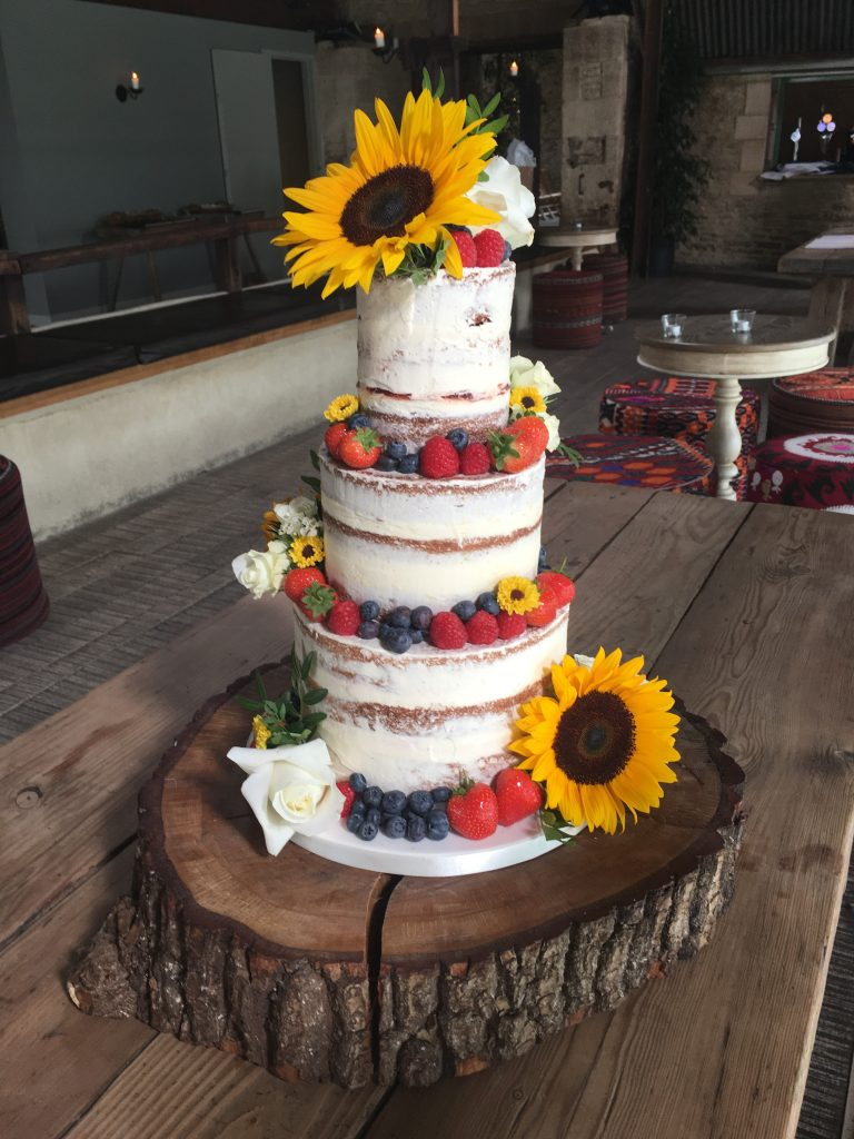 Semi Naked, Sunflowers and Fresh Berries