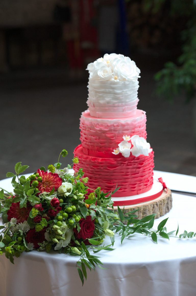 Ombre Red Frills, Sugar Flowers