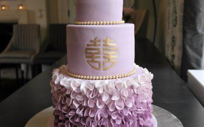 Pantone inspired Ultra Violet Wedding Cake