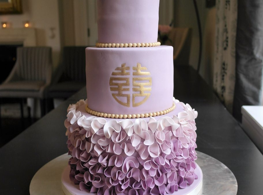 Pantone inspired Ultra Violet Wedding Cake