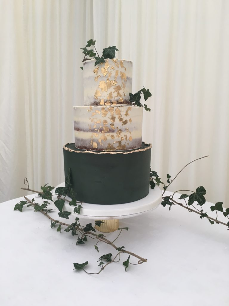 Green and Gold Buttercream