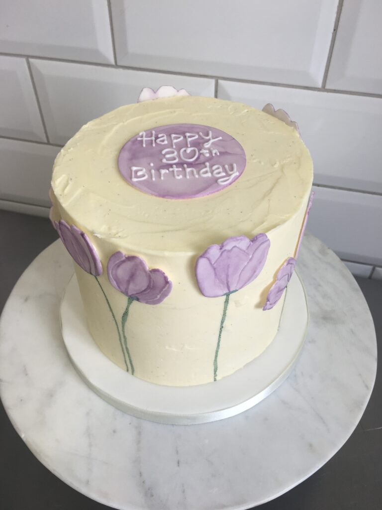 Lavender Tulip Buttercream