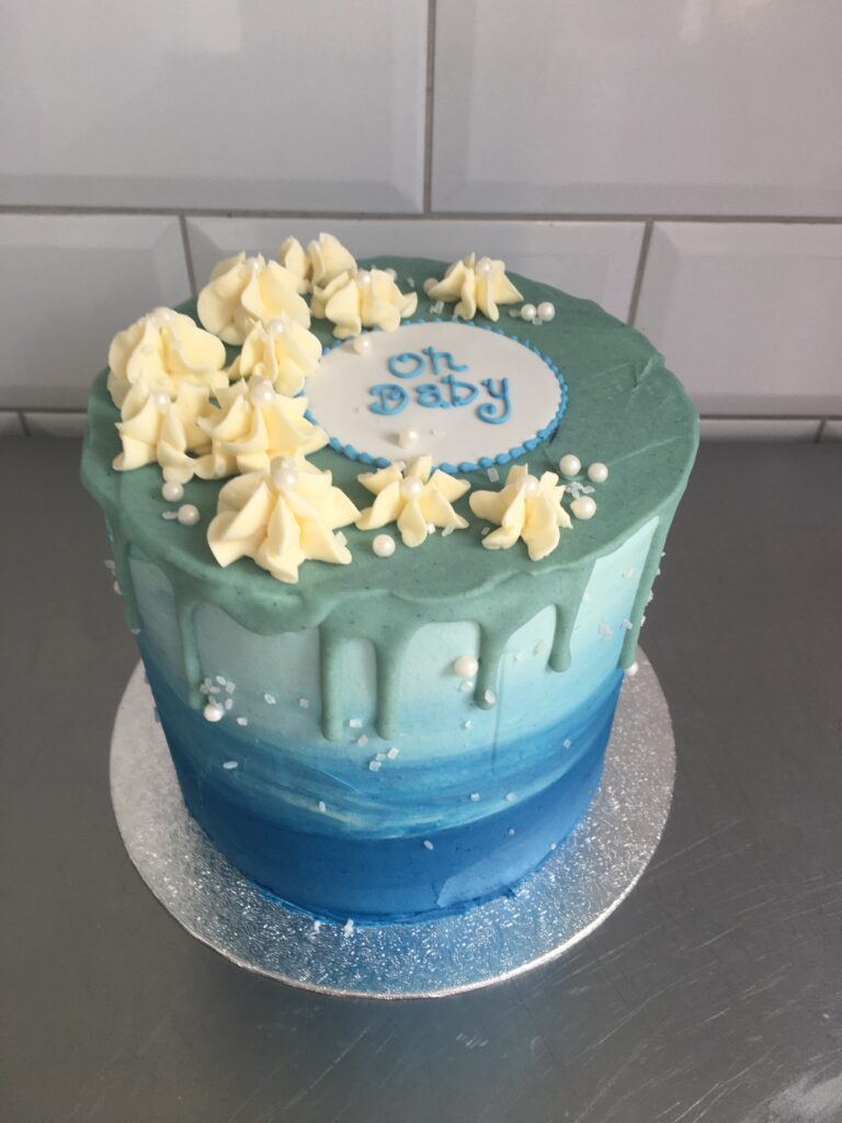 Ombre Blue Baby Shower